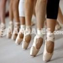 Cómo coser las cintas a las zapatillas de puntas de ballet